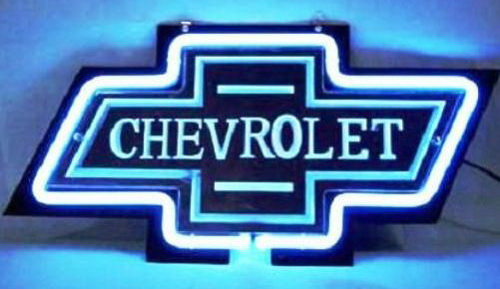 Chevrolet Logo Automobile Neon Bar Light Sign