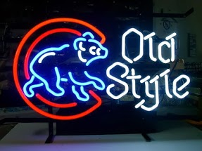 Chicago Cubs Old Style Classic Neon Light Sign 17 x 14