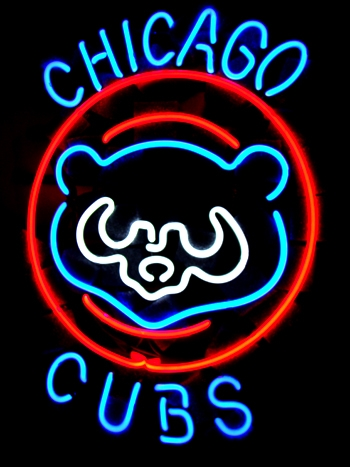 Chicago Cubs Baseball Bear Classic Neon Light Sign 16x13