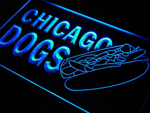 Chicago Dogs Hot Neon Light Sign