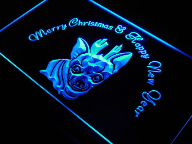 Chihuahua Christmas New Year Neon Light Sign