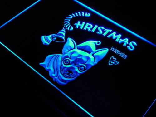 Chihuahua Dog Xmas Decor Home Neon Light Sign