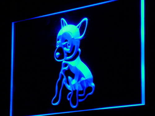 Chihuahua Puppy Dog Shop Display Neon Light Sign