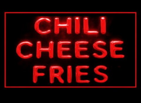 Chili Cheese Fries LED Neon Sign