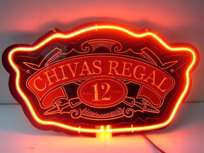 Chivas Regal 12 Years Logo Red Neon Bar Mancave Sign