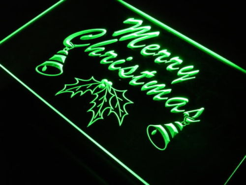 Christmas Tree Xmas Display Bell Neon Light Sign