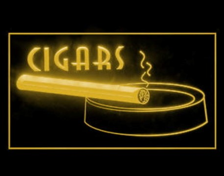 Cigar Smoke Tobacco Ashtray LED Neon Sign
