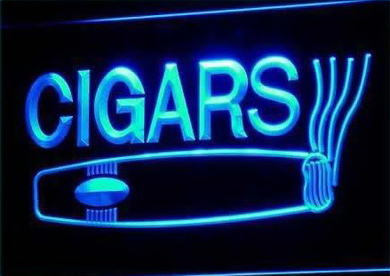 Cigars Logo LED Light Sign