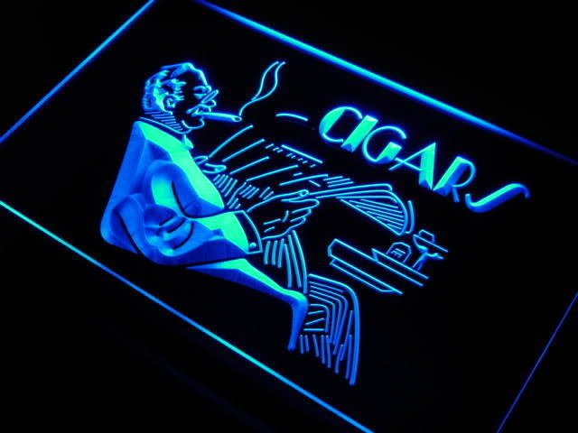 Cigars Lounge Shop LED Sign