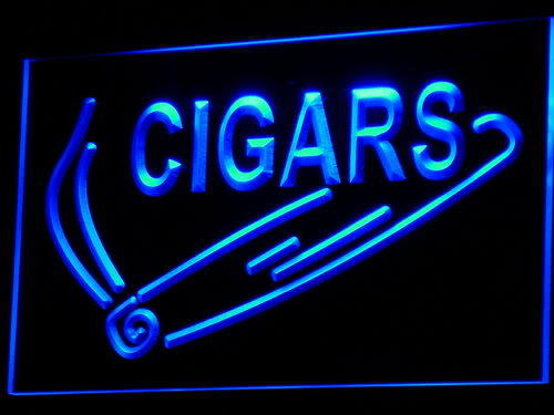 Cigars OPEN Display Shop Bar Pub Neon Light Sign