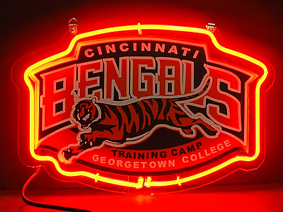Cincinnati Bengals Red Neon Bar Mancave Sign