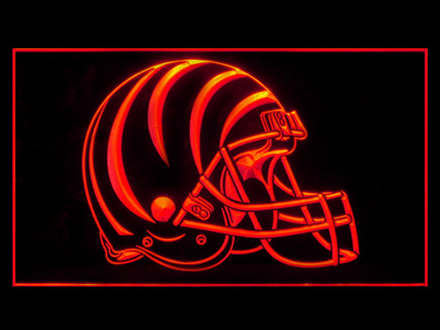 Cincinnati Bengals Helmet Display Led Light Sign