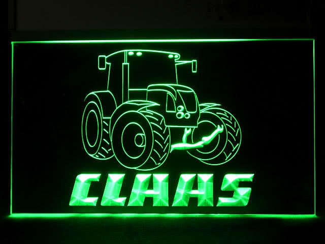 Claas Tractor Service LED Sign