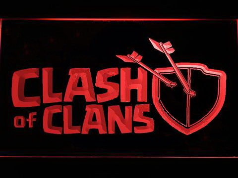 Clash of Clans LED Neon Sign