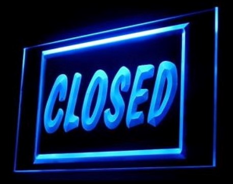 Closed Holiday Weekends LED Neon Sign