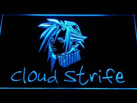 Karaoke Game Room LED Neon Sign #0: Cloud Strife Final Fantasy 7 LED Neon Sign JPG