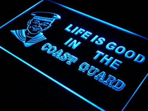 Coast Guard Life is Good Bar Beer NEW Light Sign