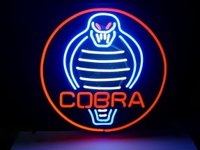 Cobra Shelby Round Logo Classic Neon Light Sign 17 x 14