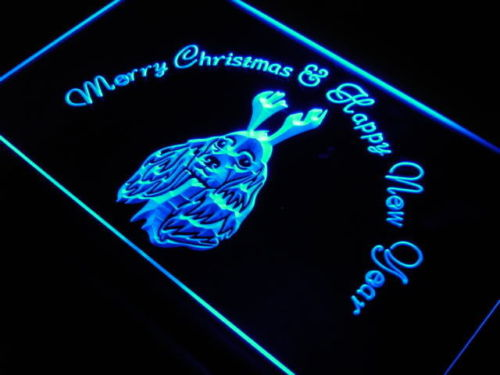 Cocker Spaniel Christmas Neon Light Sign