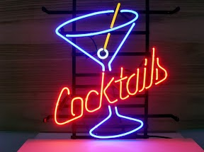 Cocktails Bar Mancave Classic Neon Light Sign 17 x 14