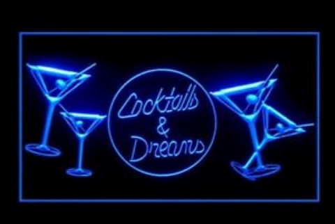 Cocktails and Dreams Bar LED Neon Sign