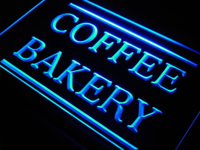 Coffee Bakery Cafe Shop LED Light Sign