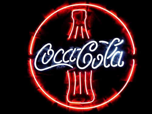 Coca Cola Coke Bottle Round Neon Light Sign 16 x 16