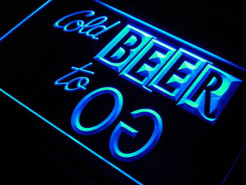 Cold Beer To Go Bar Pub Club Neon Light Sign