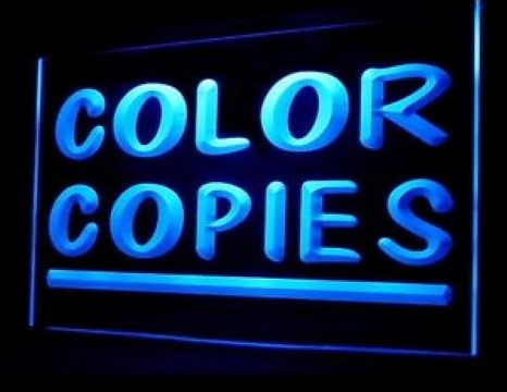 Color Copies Shop LED Neon Sign