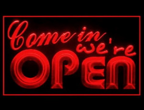 Come in we are OPEN shop LED Neon Sign