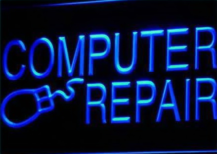 Computer Repair Internet Laptop Neon Light Sign