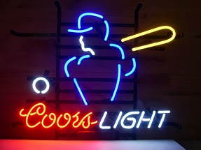 Coors Light Baseball Classic Neon Light Sign 17 x 14