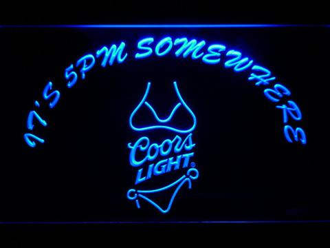 Coors Light Bikini It's 5pm Somewhere LED Neon Sign