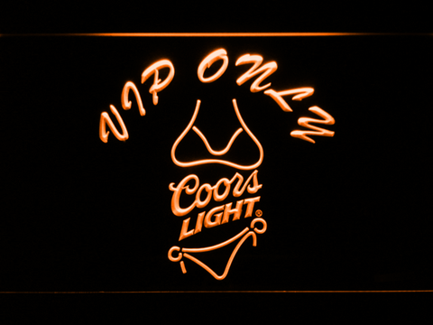 Coors Light Bikini VIP Only LED Neon Sign