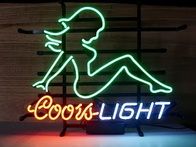 Coors Light Naked Lady Classic Neon Light Sign 17 x 14