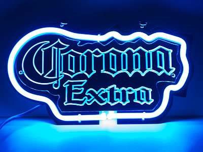 Corona Extra Logo Blue Neon Bar Mancave Sign
