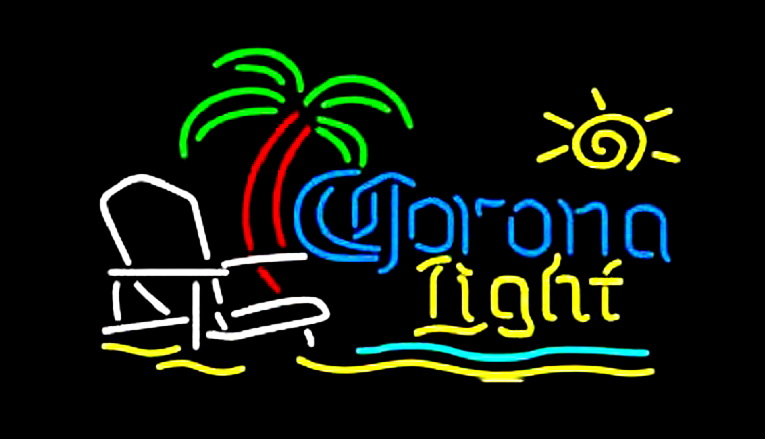 Corona Light Beach Chair Neon Sign