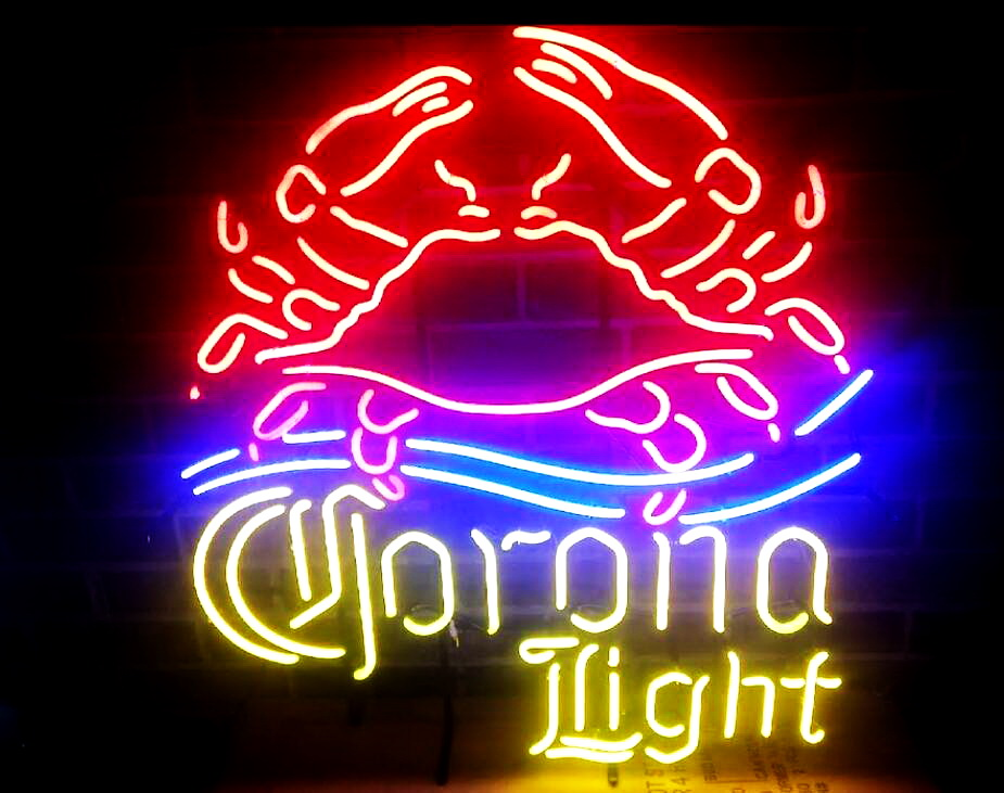 Corona Light Crab Neon Sign
