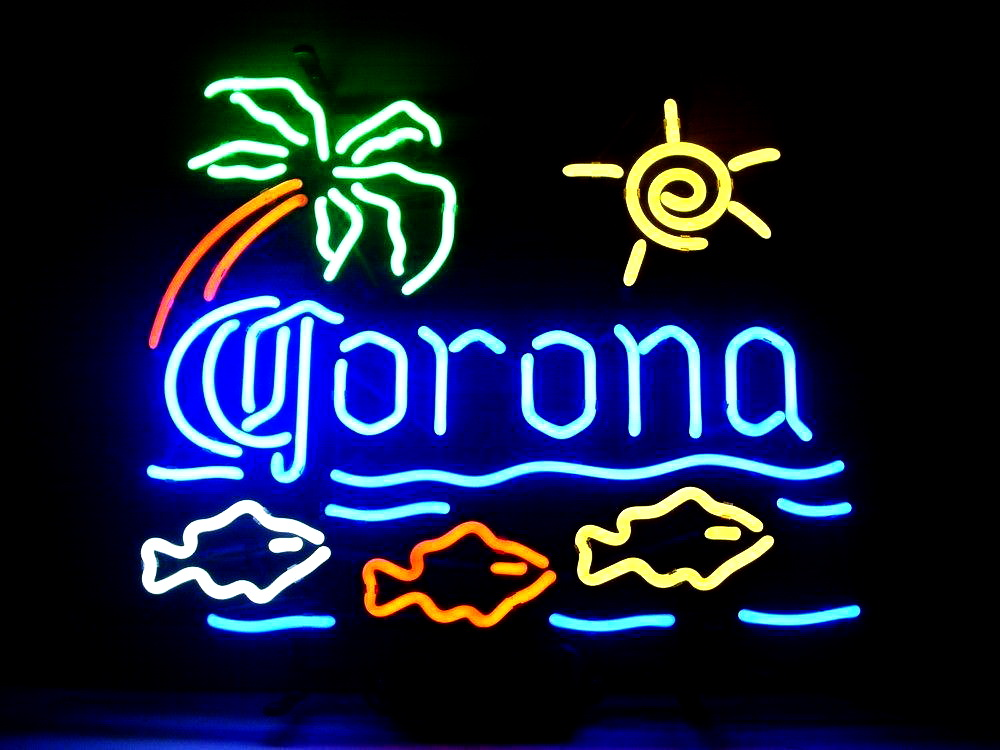 Corona Light Fish In Sea Neon Sign