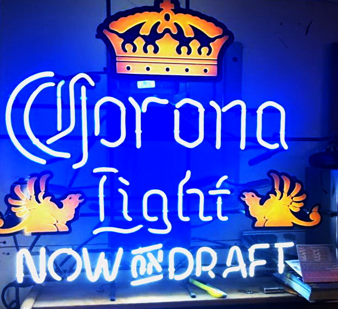 Corona Light Now On Draft Neon Sign