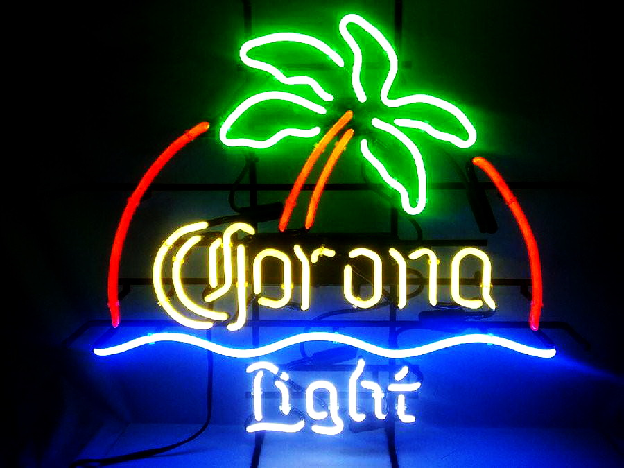 Corona Light Palm Tree Neon Sign