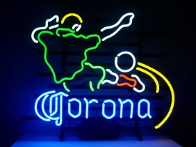 Corona World Cup Soccer Classic Neon Light Sign 17 x 14
