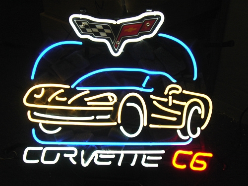 Corvette American Auto Classic Neon Light Sign 16 x 14