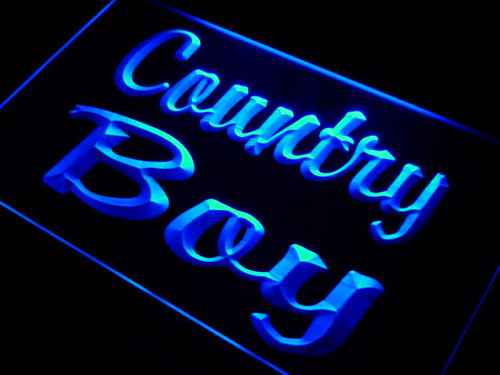 Country Boy Display Neon Light Sign