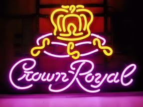 Crown Royal Yellow Crown Classic Neon Light Sign 17 x 14