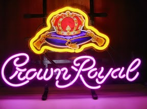 Crown Royal Crown on Cushion Classic Neon Light Sign 17 x 14
