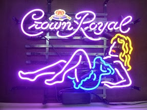 Crown Royal Lady Classic Neon Light Sign 17 x 14