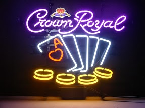 Crown Royal Poker Classic Neon Light Sign 17 x 14