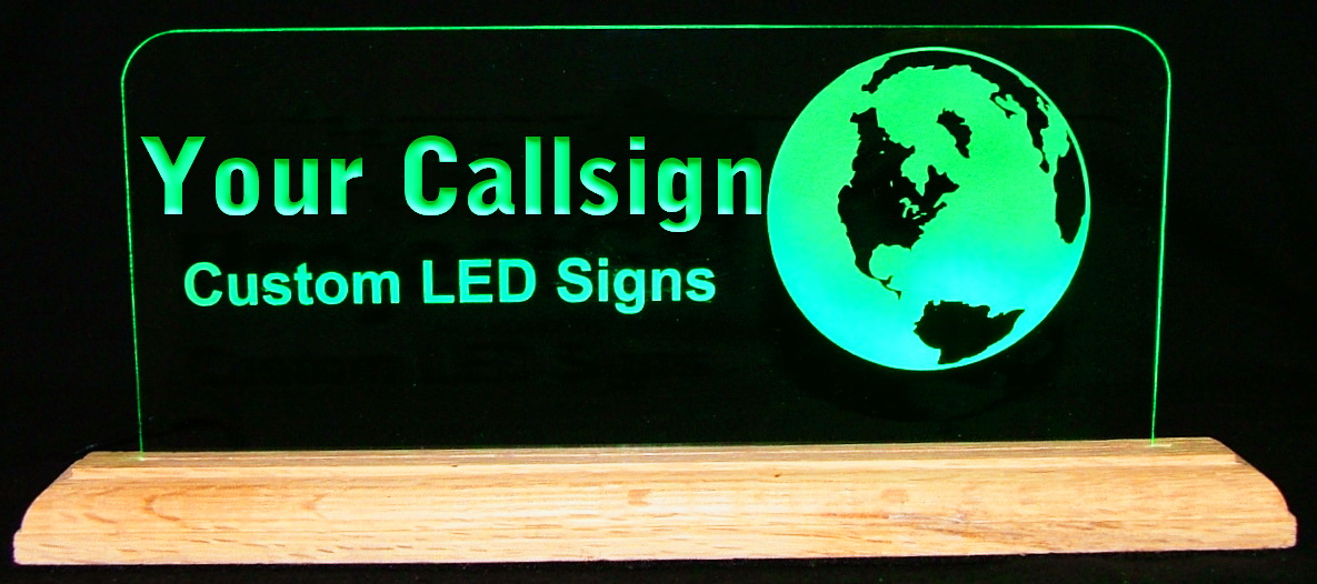 Custom LED Fill in Etch Displays