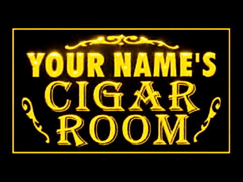 Custom Name Cigar Room LED Neon Sign